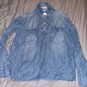 Jean looking long sleeve shirt(Abercrombie&Fitch)